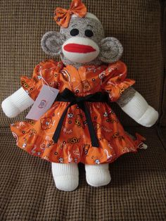 If we have a girl. Oklahoma State University Sock Monkey by  AmazingGiftsBoutique f1aa33217512