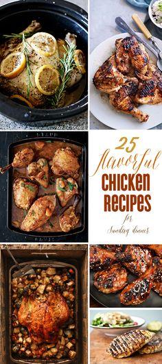 25 Chicken Recipes Perfect For Hosting Sunday Dinner via @K D Eustaquio {The Celebration Shoppe}