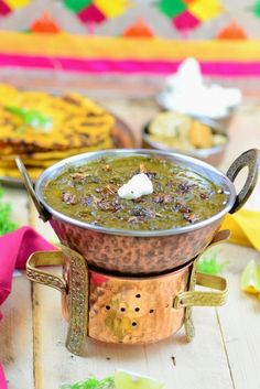 Punjabi sarson ka saag is a traditional Punjabi recipe made with Mustard greens and other leafy vegetables. Here is a tried and tested to make this dish.