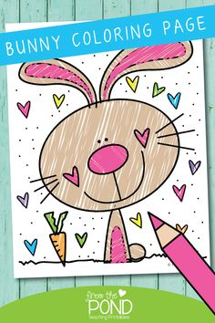 Flower Drawing Discover Free Bunny Coloring Page Free Bunny Coloring Page Kids Art Class, Art Lessons For Kids, Art Lessons Elementary, Art For Kids, Bunny Coloring Pages, Coloring Pages For Kids, Easter Art, Easter Crafts For Kids, Imprimibles Halloween