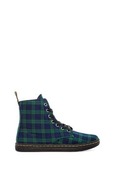 CULT CLASSIC - Dr. Martens Hackney 7-Eye Boot in Black Watch from REVOLVEclothing s/s 2014 - love this!