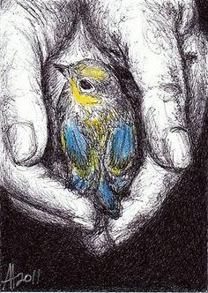 Ballpoint pen art -- Anne Thouthip