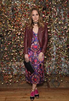 Blogger Rosie Fortescue wore the Matthew Williamson Mother Amazo slip dress of summer to an event in London this week. Appropriately floral, the print combines rainforest flowers with butterflies, birds and even a monkey.