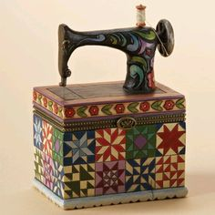 Jim Shore Sewing Machine