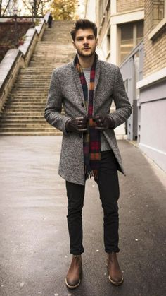 Men's Fall Winter Fashion - Get inspired by our trend ideas - Beaugoss - Mode Mode Masculine, Winter Fashion Outfits, Casual Outfits, Fashion Ideas, Men Winter Fashion, Party Fashion, Fashion Dresses, Work Outfits, Men's Outfits