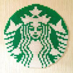Starbucks logo perler beads by kaory272