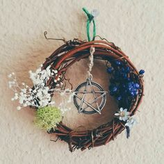 "Mini wreath charm 3"" across  #witchcraft #pagan #wicca #craft"