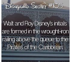 Tribute to Walt and Roy in New Orleans Square. Disney World Facts, Disney Fun Facts, Disney Jokes, Disney Nerd, Disney Trivia, Disneyland Secrets, Disney Secrets, Disney World Tips And Tricks, Disneyland Hacks