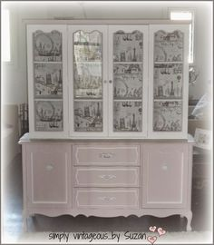simply vintageous...by Suzan: AN ODE ...( and a hutch makeover )