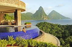 Located in the eastern Caribbean Sea, Jade Mountain in St. Lucia is one of the most incredible resorts the Sifter has seen. Each room has only three walls and a private infinity pool with stunning panoramic views of the beautiful Caribbean. A tropical oasis, this slice of heaven doesn't come cheap, with nightly rates ranging from 950 up to 2,700. One can dream though!