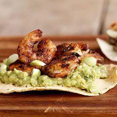 Shrimp and Guacamole Tostadas...