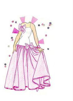Perfume Pretty Barbie paper doll dress