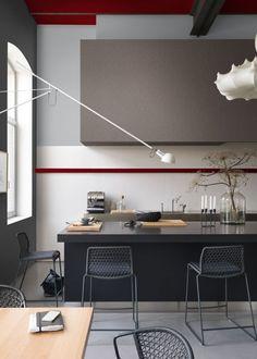 Couleurs Fil d'étain / Rouge Boléro / Gris Astrakan collection Modern – Dulux Couture - Marie Claire Maison
