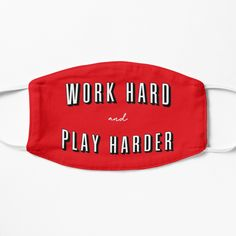 Netflix and Chill - Work Hard & Play Harder Mask by 99designstudioCo on Etsy