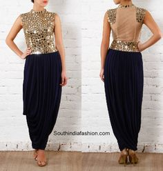 mirror_work_dhoti_salwar