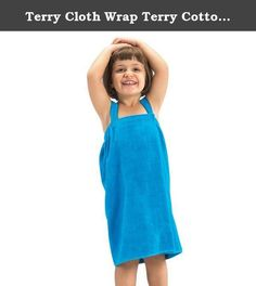 "Terry Cloth Wrap Terry Cotton Bath Wrap Girls Made in USA Aqua Medium. - Made of 100% cotton, triple sheared, terry velour fabric. - Loop Terry Cloth Inside & Smooth Velour Outside. - Available Colors: Black, Aqua, Hot Pink, white, light pink, red, purple, orange and lavender - It is made 100% absorbent environment friendly high quality cotton. - Small Size: Length 21"" ; Max Waist 37"" - Medium Size: Length 26"" ; Max Waist 46"" - 11 oz/yd. Fabric & Care - Machine washable, wash in warm…"