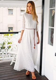 Floral Maxi Lace Dress – Lookbook Store