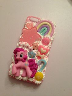 Made to Order Custom My Little Pony Pinkie Pie Kawaii Decoden Phonecase for IPhone 4/4s, iPhone 5, Samsung Galaxy. $25.00, via Etsy.