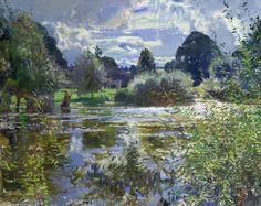 La rivière complète de Sir Alfred James Munnings (1878-1959, United Kingdom)