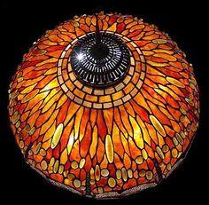 "Design of  Tiffany-Studios New York    Tiffany lamp shade  DRAGONFLY #1507  Diameter: 22"" (55,8 cm)"