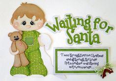 Tocg Waiting for Santa Paper Piecing Set Premade Scrapbook Border DANDERSON651 | eBay