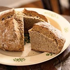 "Mummy's Brown Soda Bread - Scoring a deep cross into the surface of the dough is called ""blessing the bread."""