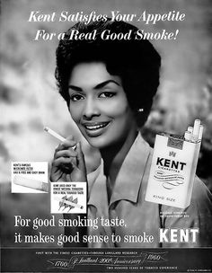 Kent Cigarettes Advertisement featuring Model Helen Williams - Ebony Magazine, May, 1960 by vieilles_annonces, via Flickr