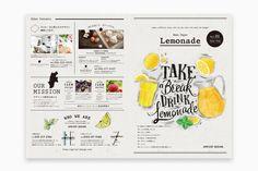 Booklet Design, Menu Design, Editorial Layout, Editorial Design, Japanese Menu, Magazine Layout Design, Cafe Menu, Web Layout, Name Cards