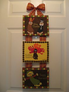 Thanksgiving Handprint & Footprint Canvas Craft