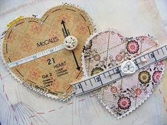 ~ Heart made from an old pattern...