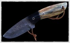 Buffalo bone handle.