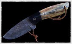 Buffalo bone handle.