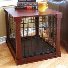 A crate to match my decor.. great! Though this wouldn't work for my dog, it's still a cool idea.