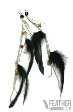 Fab for less! Dezyga Black Rooster Feather Earrings $9.99