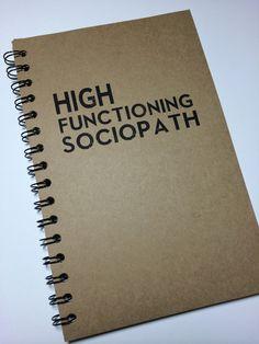 Sherlock, Sherlock Notebook, Sherlock Journal, High Functioning Sociopath, Notebook, Journal, gift, Sherlock, Diary, Fandom, Sketchbook