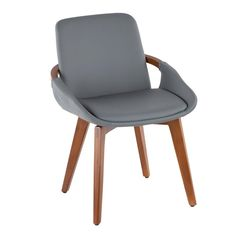 Malden Bentwood Upholstered Dining Chair Grey Fabric