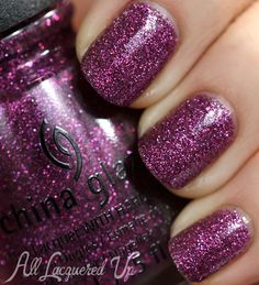 """China Glaze, """"Put A Bow On It"""" - if i was to envision the perfect shade of purple (my favorite color), it would look exactly like this."""