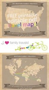 Free Printable Family Travel Maps