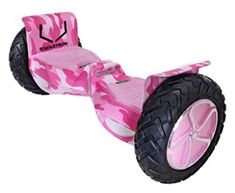 SWAGTRON OffRoad Hoverboard First in the World to Handle Over 380 LBS Up to 12 MPH Certified 10 Wheel Pink Camouflage *** Continue to the product at the image link. (This is an affiliate link) Batterie Samsung, Tubeless Tyre, All Terrain Tyres, Pink Camouflage, Rubber Tires, Electric Scooter, Galaxy, Cool Gadgets, Offroad