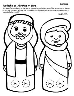 Abraham y Sara Bible Activities For Kids, Bible Crafts For Kids, Bible Study For Kids, Preschool Bible, Bible Lessons For Kids, Preschool Crafts, Sunday School Crafts For Kids, Bible School Crafts, Preschool Coloring Pages