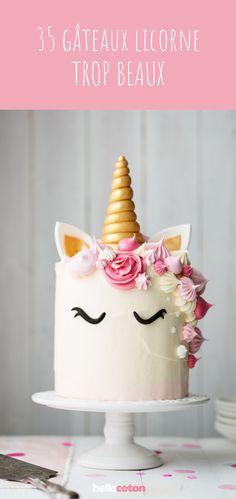 35 inspirations for a unicorn cake! Unicorn Party, Unicorn Birthday, Unicornios Wallpaper, Birthday Parties, Birthday Cake, Individual Cakes, Sweet Spice, Cake Decorating, Wedding Cakes