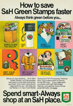 How to Save S Green Stamps Faster, 1972, via Flickr.