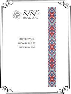 Loom pattern, Ethnic style I. LOOM bracelet pattern in PDF - instant download