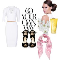 Spring into Summer by ivy-deleon-design on Polyvore featuring Victoria Beckham, Paul Andrew, Valentino, Clinique and Lipsy