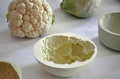 molded veggie bowls 500x331 Ceramic Produce Imprint Molded Bowls