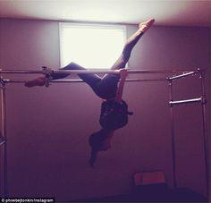 Bending over backwards: The Originals actress Phoebe Tonkin shared a photo on Instagram ho...