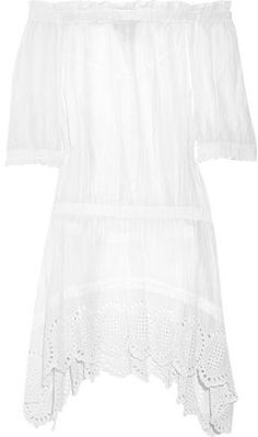 ShopStyle: MICHAEL Michael Kors Off-the-shoulder cotton dress