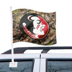 Florida State Seminoles (FSU) Camo Car Flag