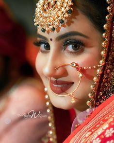 Indian Wedding Bride, Indian Wedding Makeup, Wedding Girl, Bridal Makeup Images, Best Bridal Makeup, Pakistani Bridal Jewelry, Bengali Bridal Makeup, Asian Bridal Dresses, Bridal Wedding Dresses