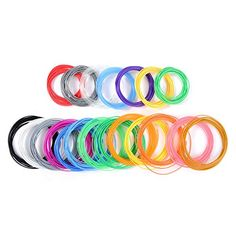 LIHAO 5m Pack of the Best Pure PLA�Material 1.75mm Filament for 3D Printers and Pens(20 pcs,20 colors)